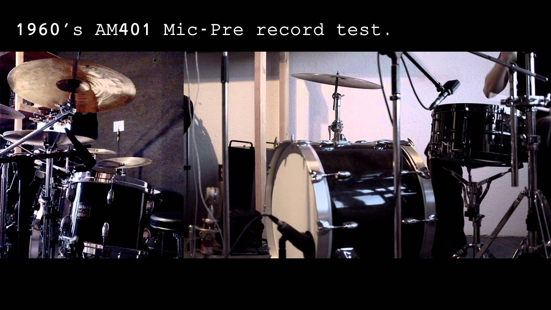 1960's AM401 Mic-Pre record test .