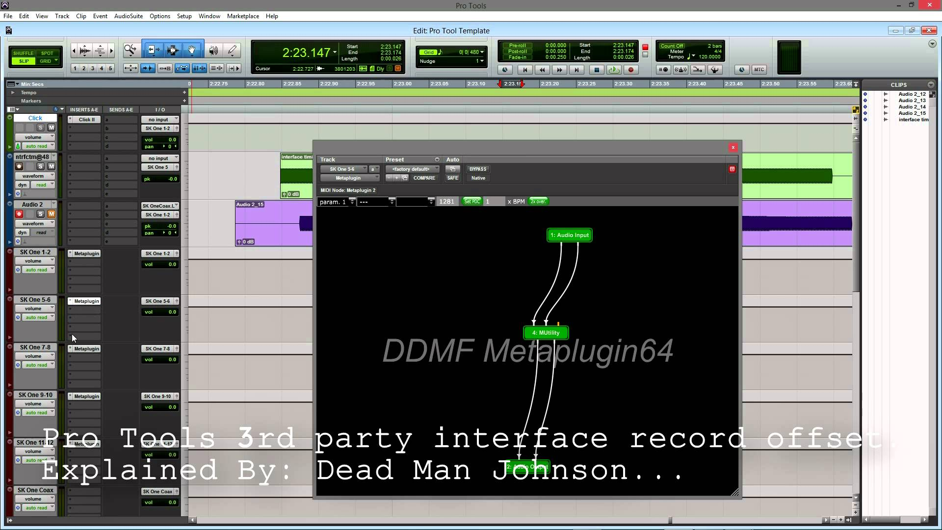 Pro Tools 3rd Party interface record offset. Explained by Dead Man Johnson…