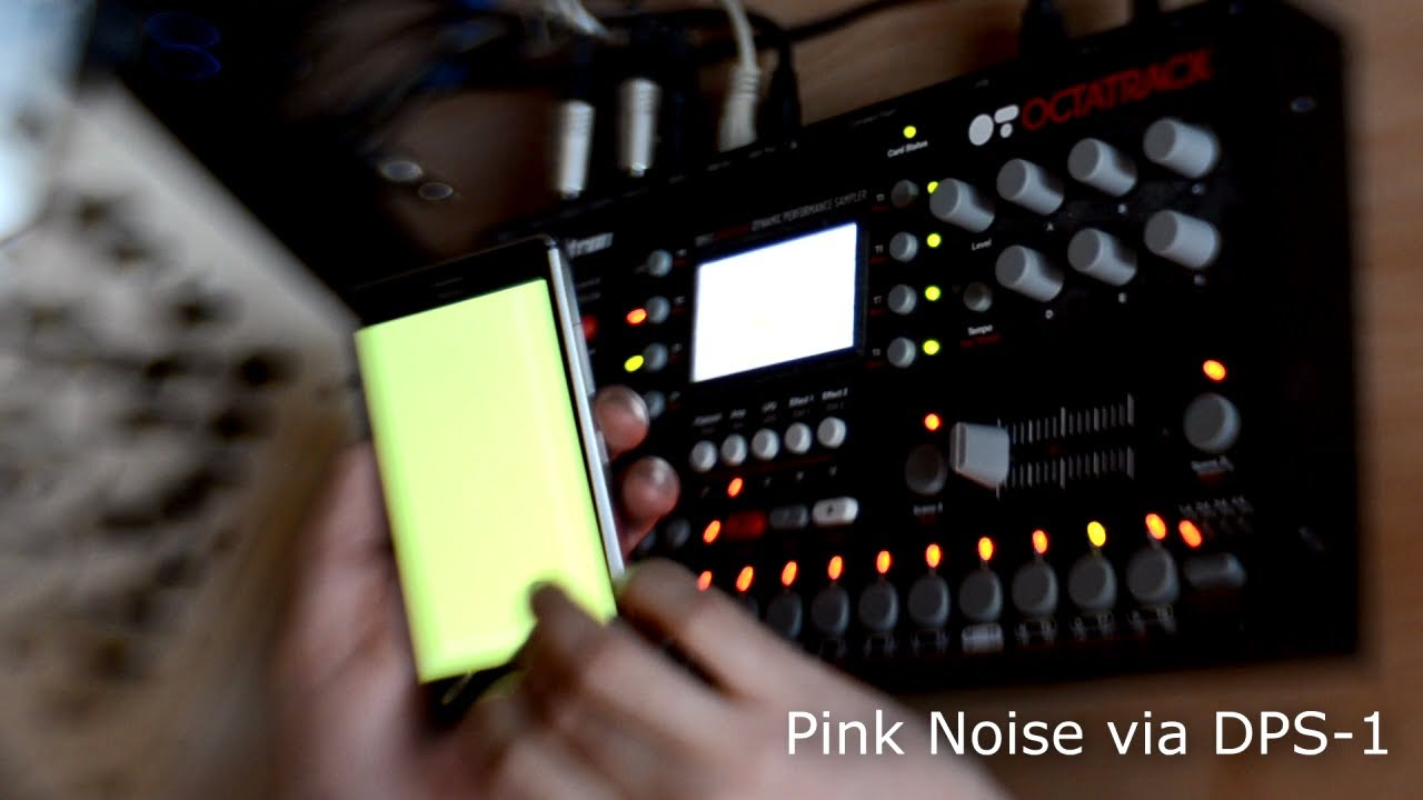 Rhythmic mangling of pink noise Via the DPS-1 Octatrack.