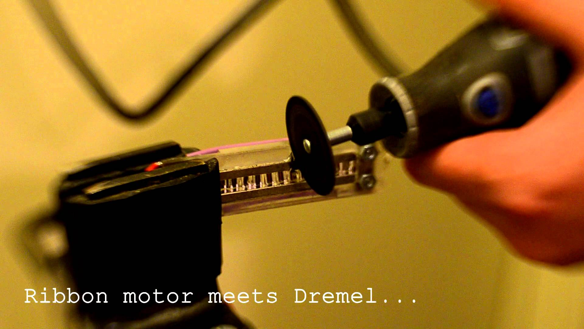 Ribbon motor meets Dremel